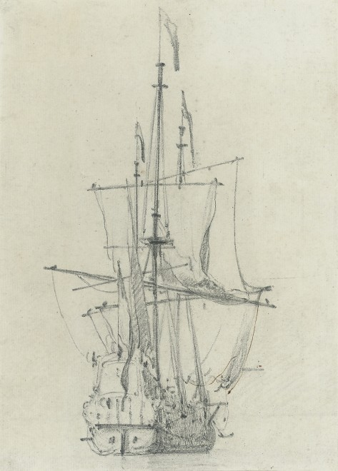 Willem Van de Velde the younger, Study of a ship