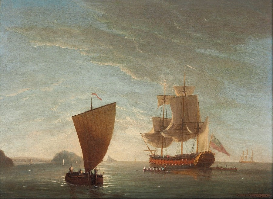 Dominic Serres, A two-decker becalmed offshore