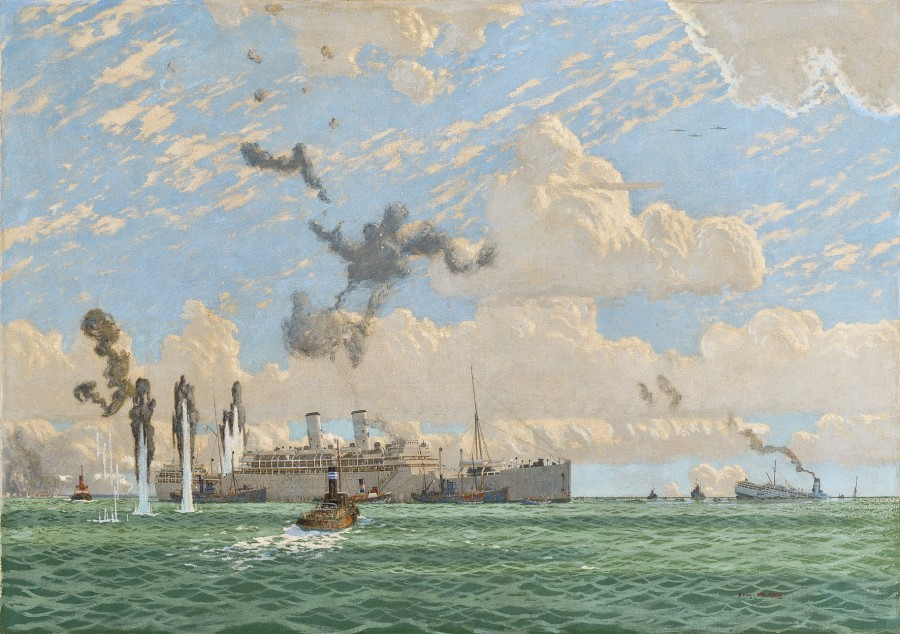 Charles Pears, PSMA, ROI, The Evacuation of St Nazaire, 17th June 1940