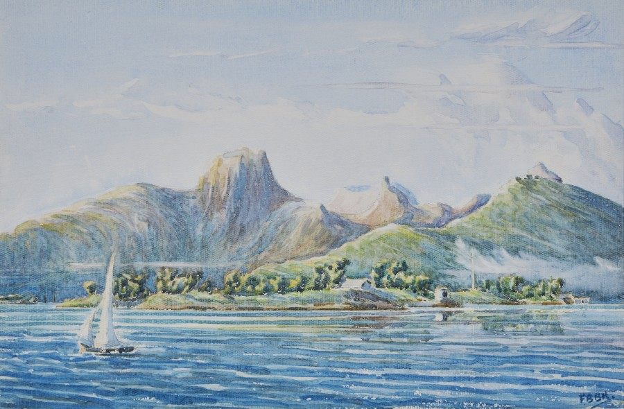 English School (20th Century), Mauritius: The entrance to Port Louis from the offing