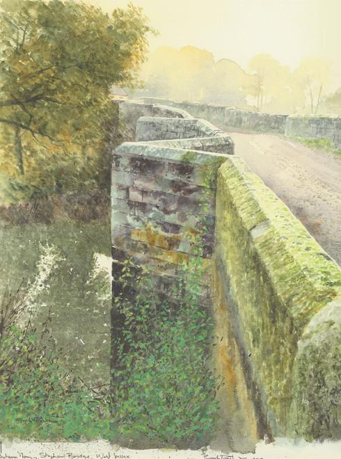 Gordon Rushmer, Autumn morning, Stopham Bridge