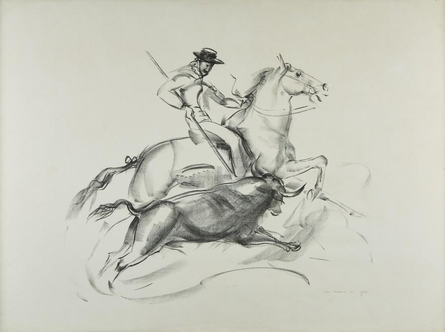 John Rattenbury Skeaping, RA, Picador and bull