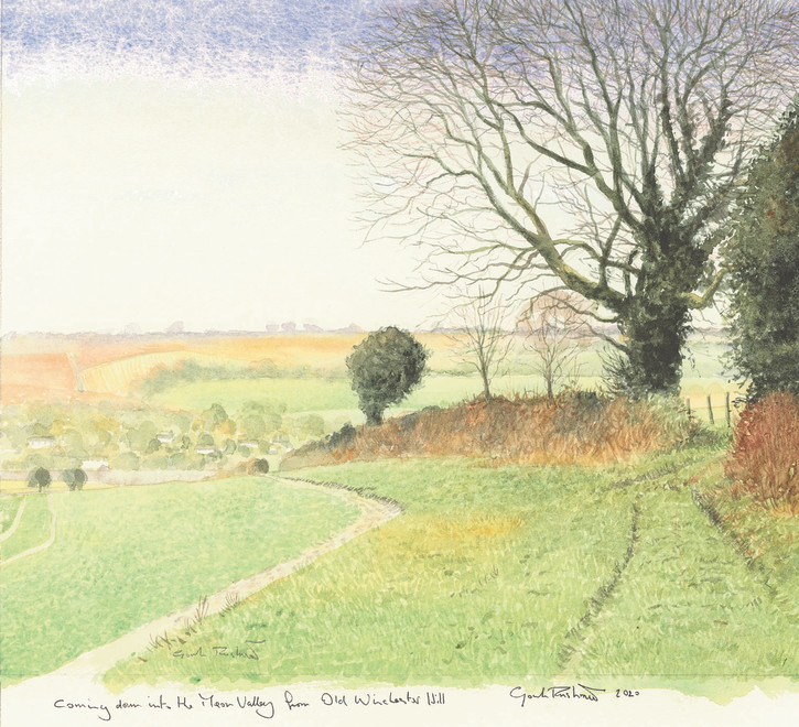 Gordon Rushmer, Coming down into the Meon Valley from Old Winchester Hill