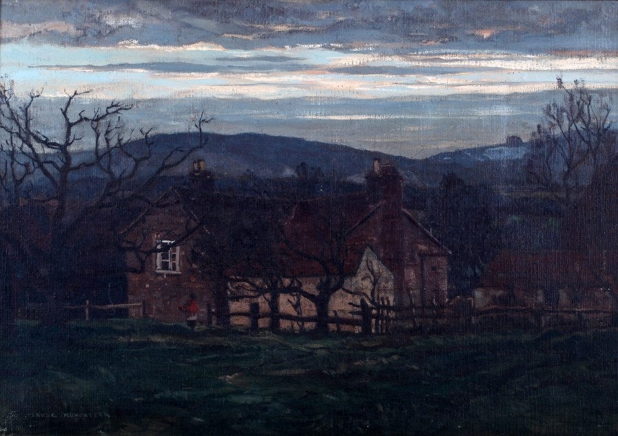 Claude Muncaster, PRSMA, RWS, ROI, RBA, Winter Dusk, Byworth, Sussex