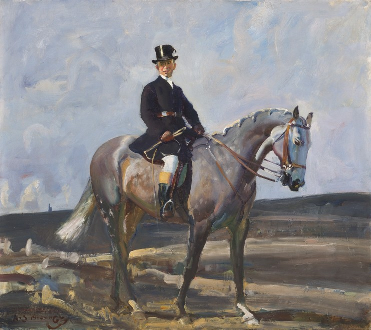 Sir Alfred James Munnings, PRA, RWS, The pad groom