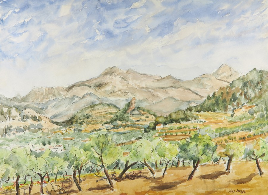 View of the mountains in Mallorca