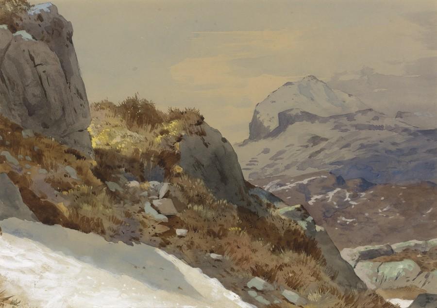 Archibald Thorburn, A Highland landscape