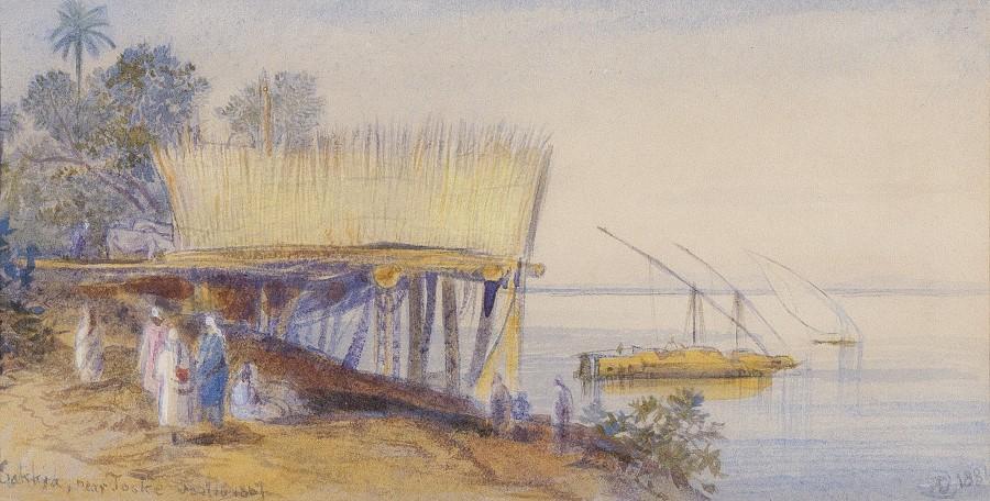 Edward Lear, Sakkia, near Toske
