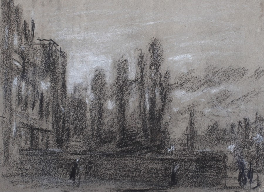 George James Rowe, Sketch of a London street