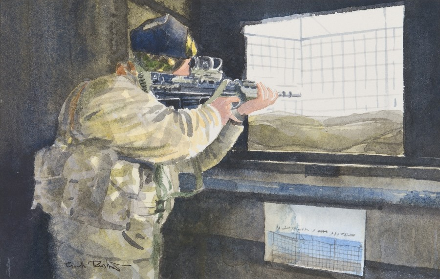 Royal Marines sentry, Lashkar Gah, Afghanistan