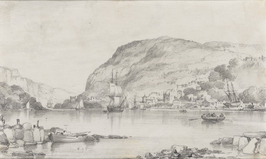 Edward William Cooke, RA, A quiet harbour