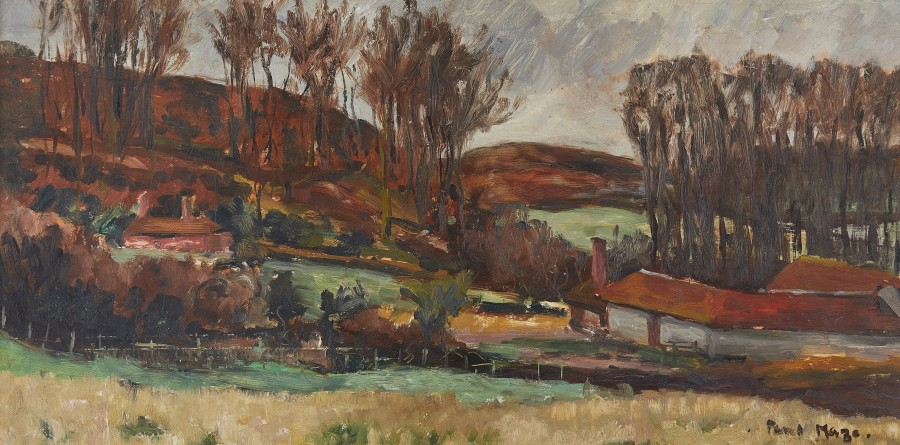 Paul Maze, Sussex Autumnal landscape