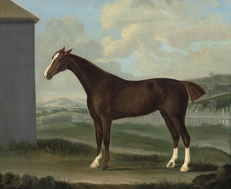 Francis Sartorius Snr, A chestnut horse in a landscape