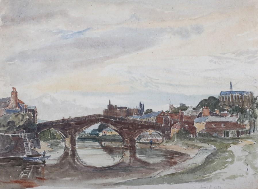 Claude Muncaster, PRSMA, RWS, ROI, RBA, Arundel Bridge