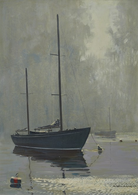 Keith Shackleton, November morning, Chichester Harbour