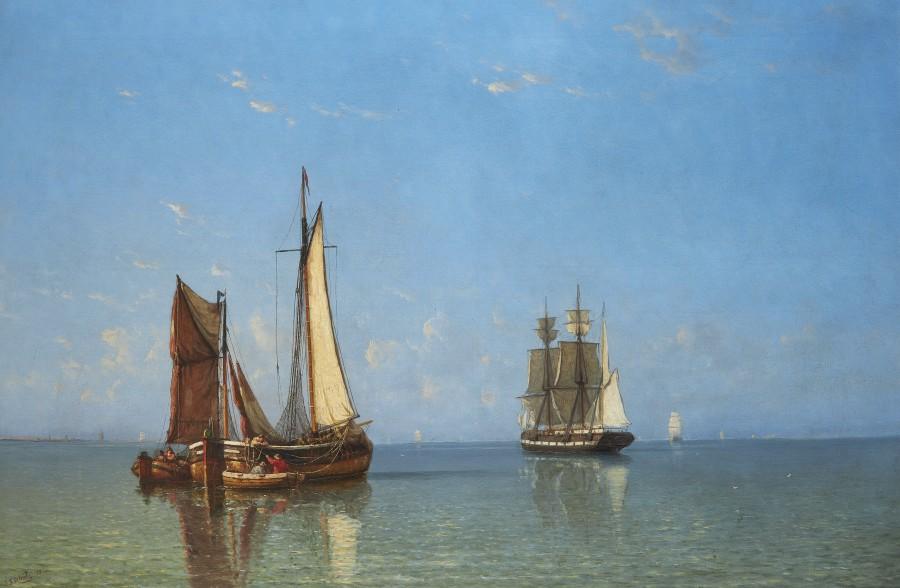 Johannes Frederick Schutz, Boats in a calm
