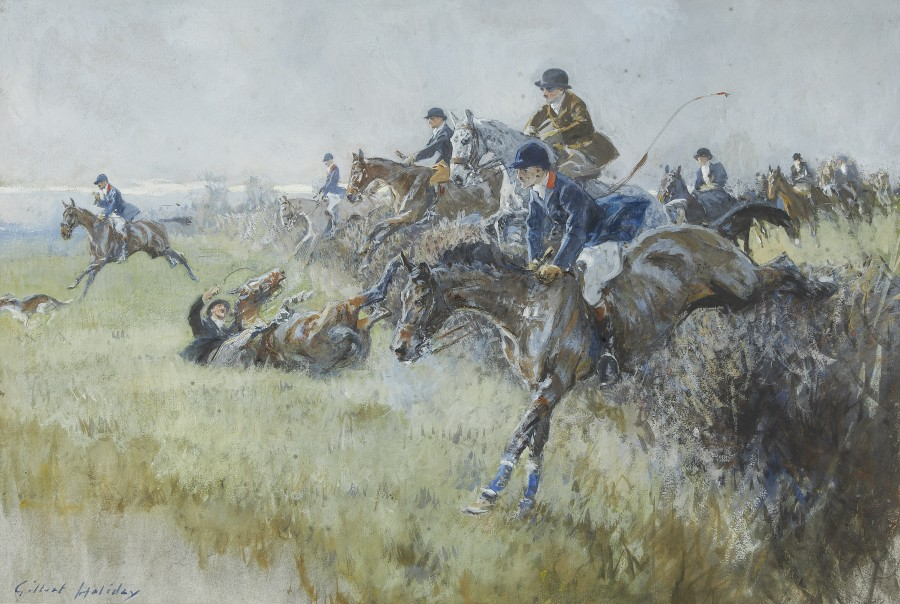 Gilbert Holiday, A pair of hunting scenes