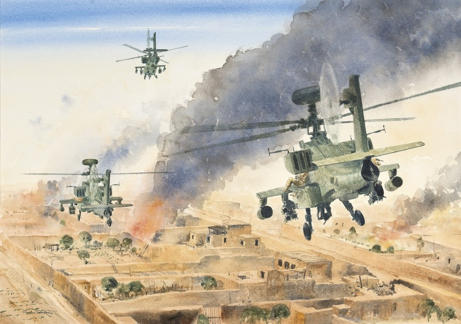 Apache rescue attempt, Garmsir, Afghanistan