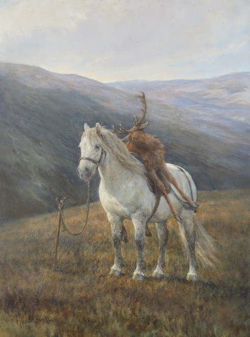 Alison Guest, Grey pony with Stag