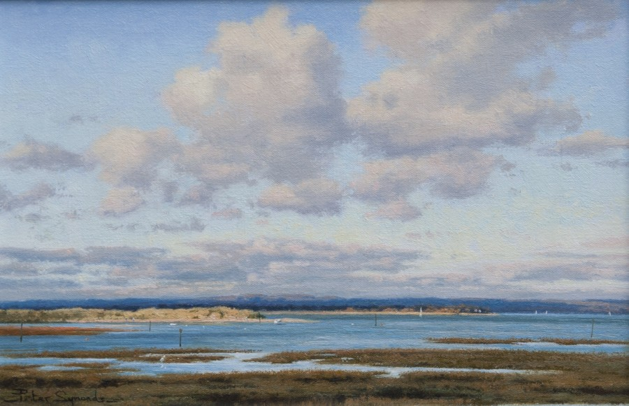 Peter Symonds, Winter afternoon, East Head from West Wittering
