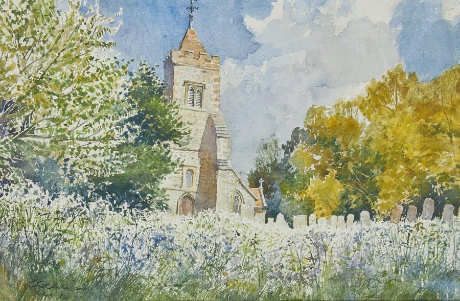 Tim Scott Bolton, Firle Churchyard in bloom