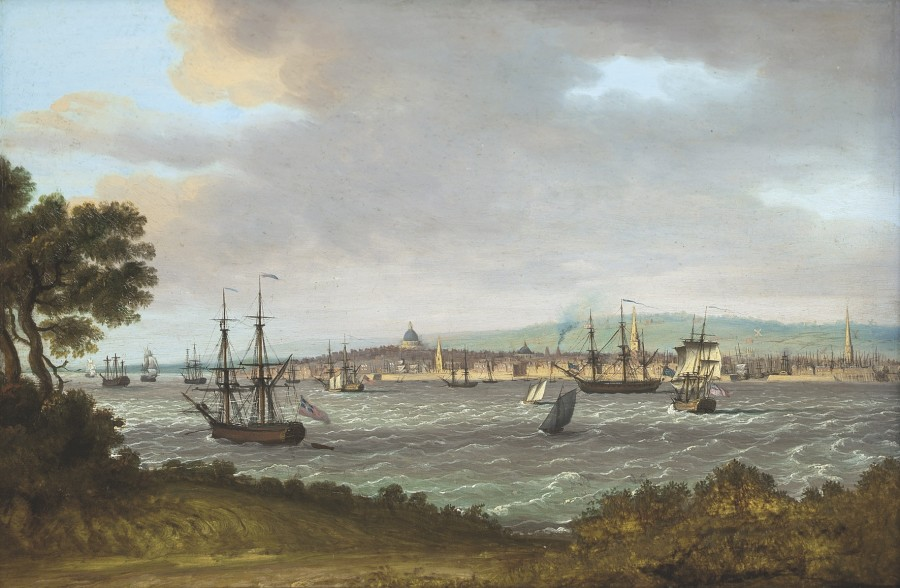 John Thomas Serres, A view of Liverpool from across the Mersey