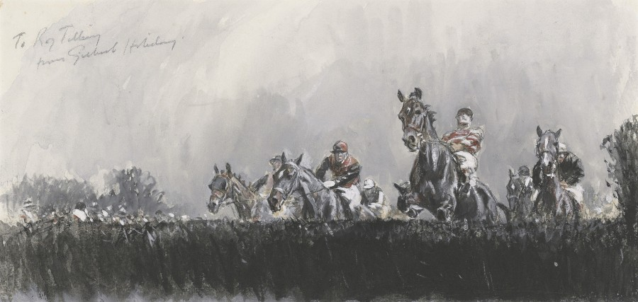 Gilbert Holiday, Study for the Grand National