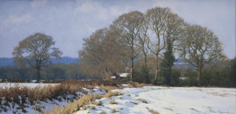 Peter Symonds, A Winter landscape, the Surrey Hills