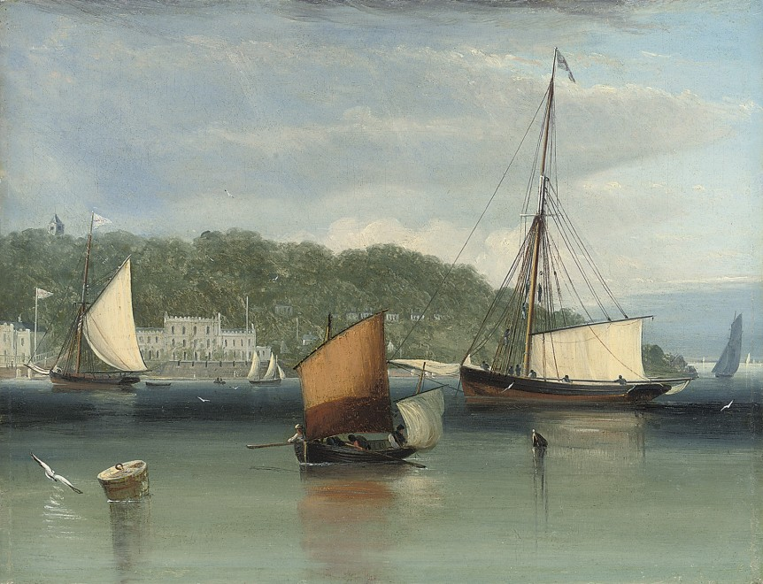 John Lynn, A calm day off the Royal Yacht Squadron, Cowes