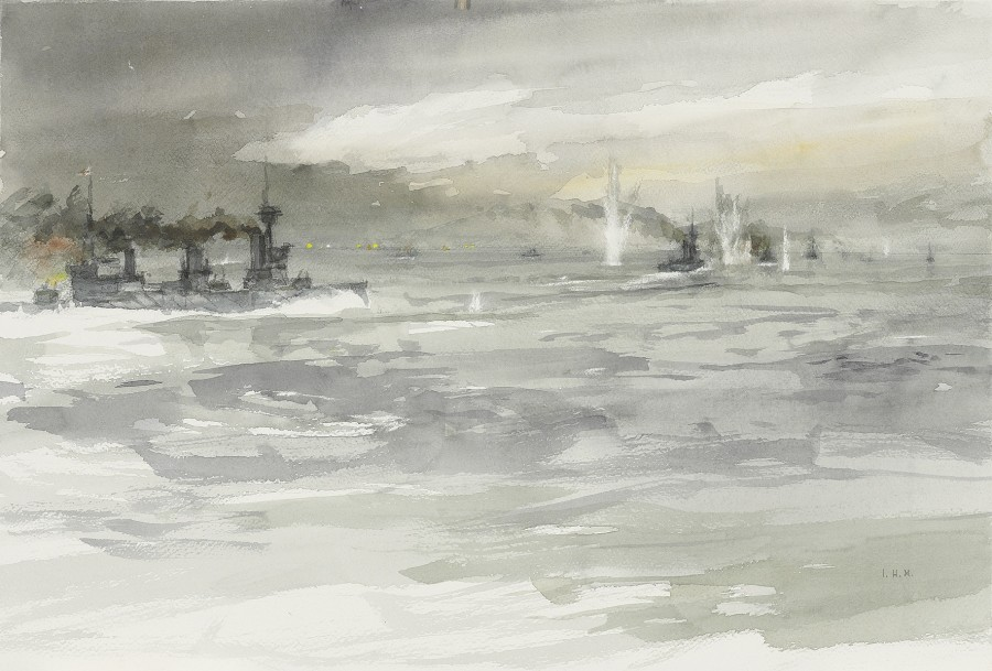 H.M.S. New Zealand following Tiger in the opening phase of the Run to the South