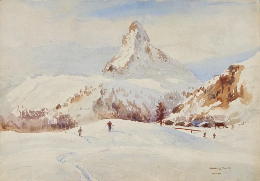 Skiing at Zermatt