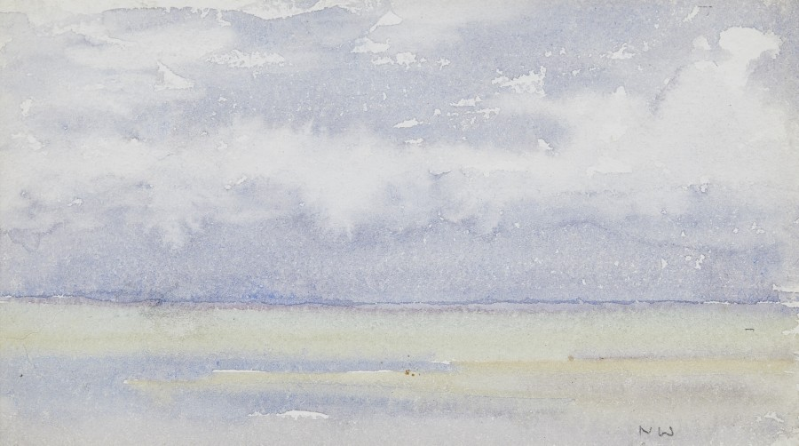 Norman Wilkinson, CBE, SMA, PRWS, RI, Study of the sea