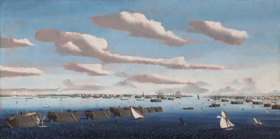Ambroise Louis Garneray, Prison hulks in Portsmouth Harbour