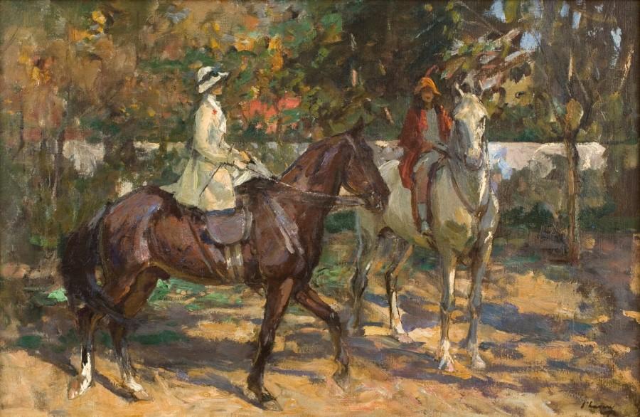 Sir John Lavery, RA, RHA, RSA, The morning ride