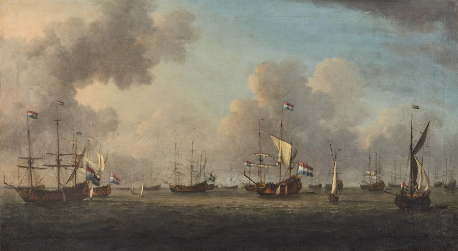 Admiral Wassenaer Obdam's fleet at anchor