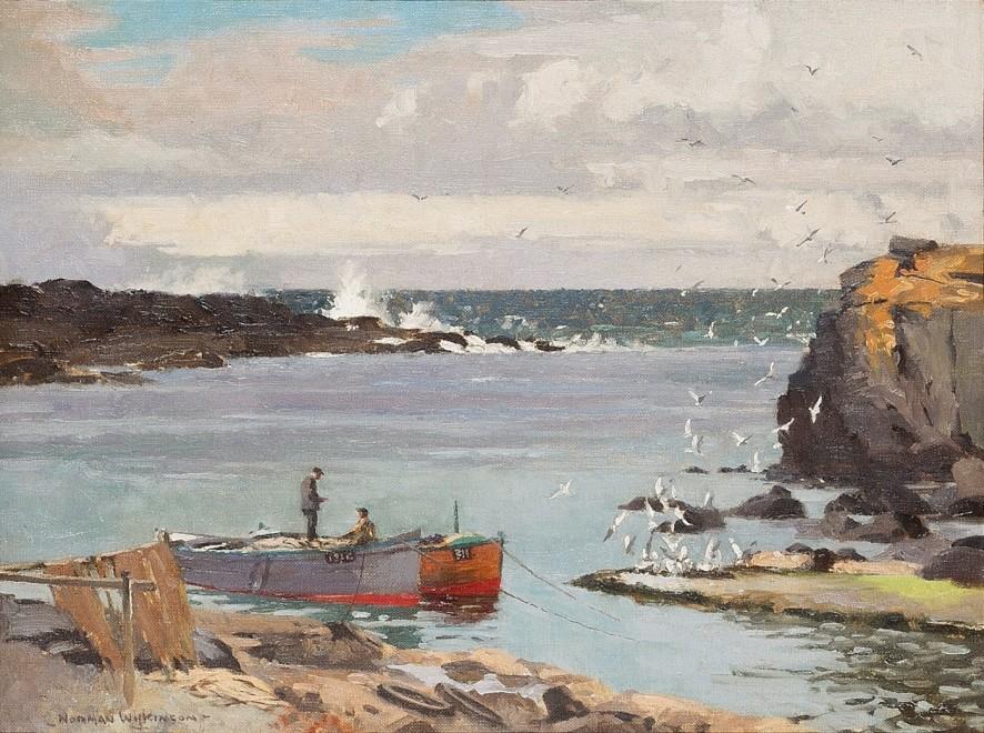 Norman Wilkinson, CBE, SMA, PRWS, RI, A Cornish cove