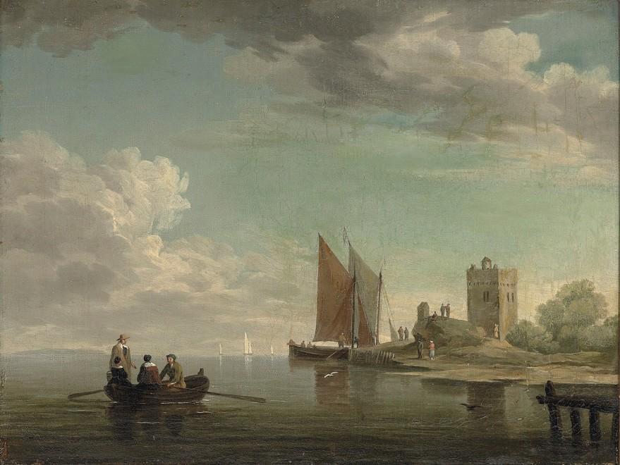Charles Brooking, Blankenberg Castle off the coast of Flanders