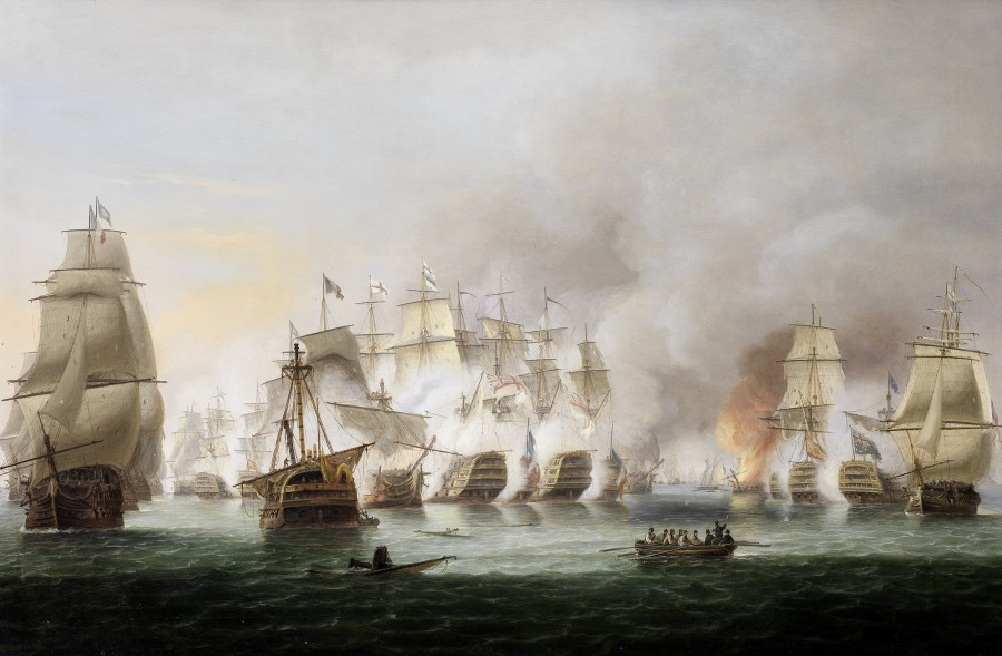 Thomas Luny, The battle of Trafalgar, 21st October 1805