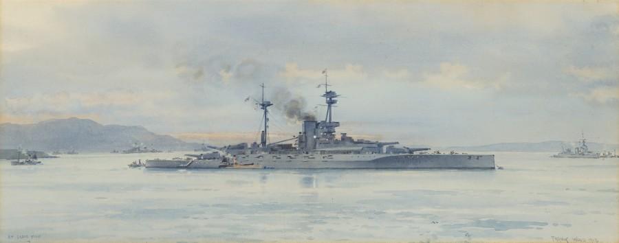 Frank Watson Wood, HMS Revenge at Scapa Flow 1918