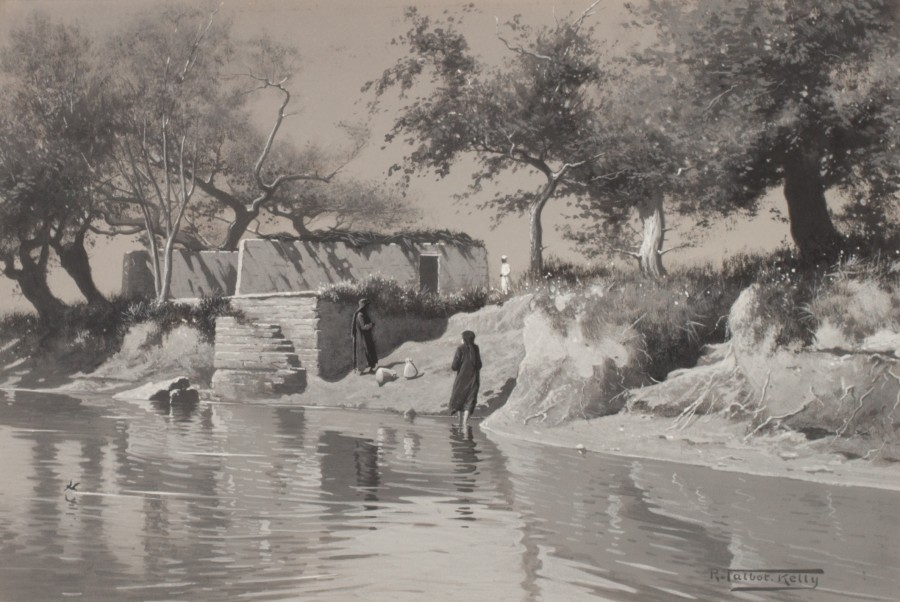 Robert George Talbot Kelly, A canal in the Nile Delta, Egypt
