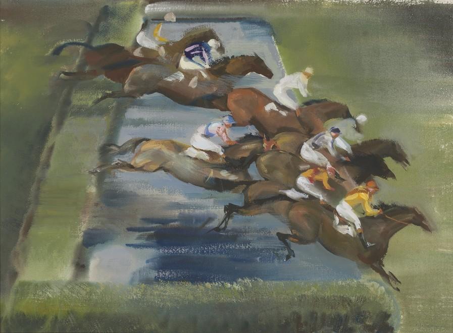 John Rattenbury Skeaping, RA, The water jump