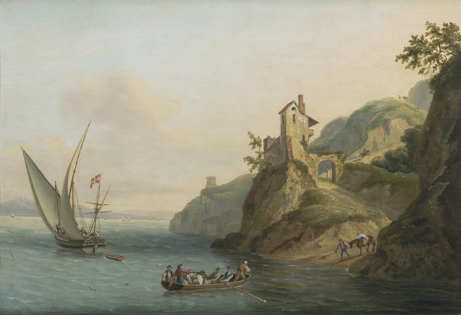 John Thomas Serres, A Maltese settee offshore in the Mediterranean