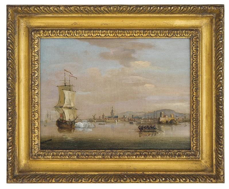 Francis Swaine, Rowing ashore off a Dutch port