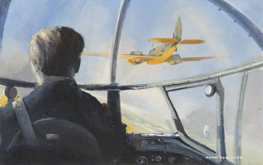 John Easthope, 20th Century, A Bristol Blenheim from a Lancaster cockpit