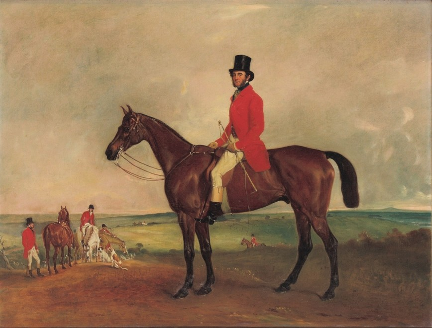 John Ferneley Snr, Portrait of Sir Francis Grant on 'Grindal'