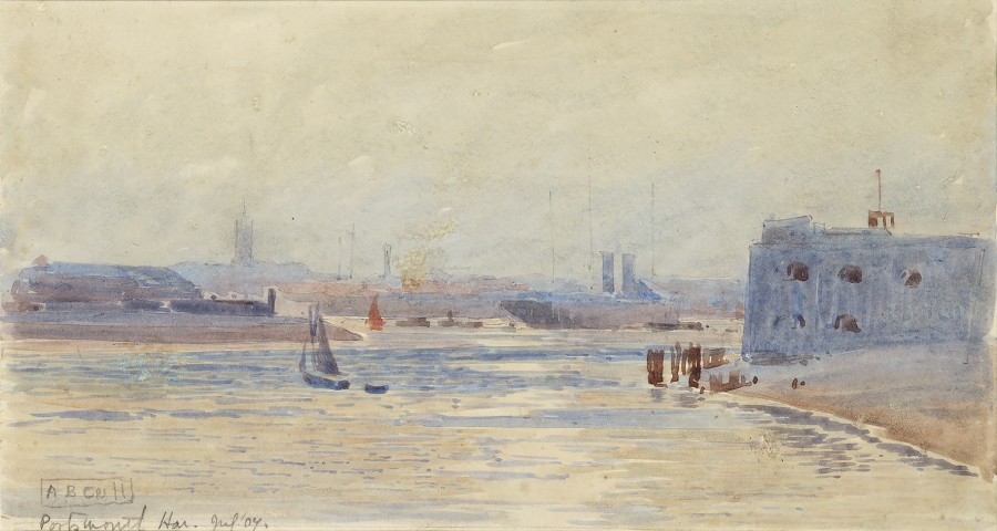 Alma Claude Burton Cull, Portsmouth Harbour, July 1904
