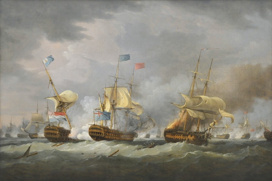 The Battle of Camperdown, 11th October 1797