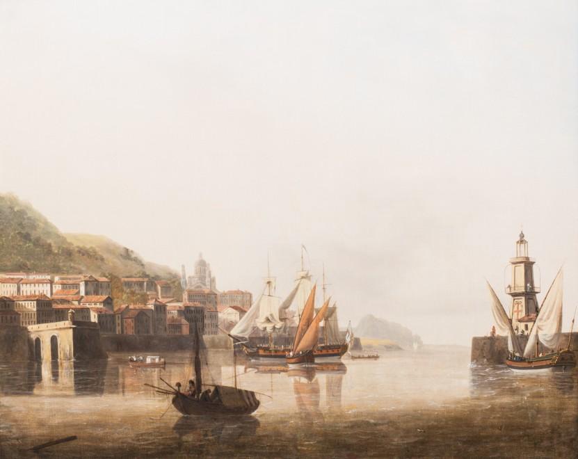 John Thomas Serres, A calm in the harbour of Genoa