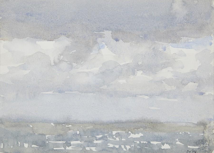 Norman Wilkinson, CBE, SMA, PRWS, RI, Dappled light on the sea, a pair