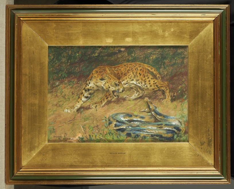 Arthur Wardle, R.I., R.B.C. , Leopard and snake